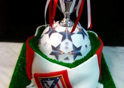 Tarta Fútbol Atlético de Madrid