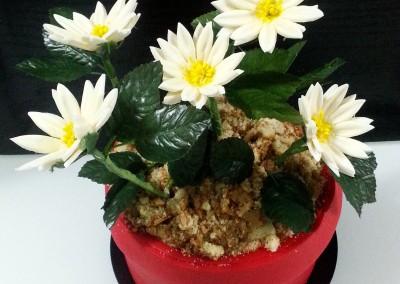 Tarta Maceta con Flores