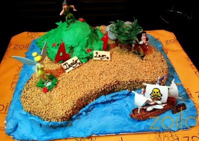 Tarta Peter Pan, Campanilla y Capitán Garfio